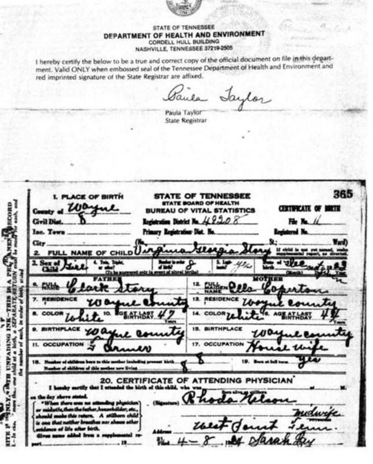 Birth Certificates - Stephen James Matthews, Sr.Family Genealogy
